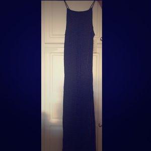 Karen Kane long polkadot dress